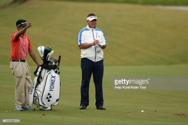 Mardan Mamat of Singapore pictured during practice ahead of the Macao Open at Macau Golf and Country Club on October 17 2017 in Macau Macau