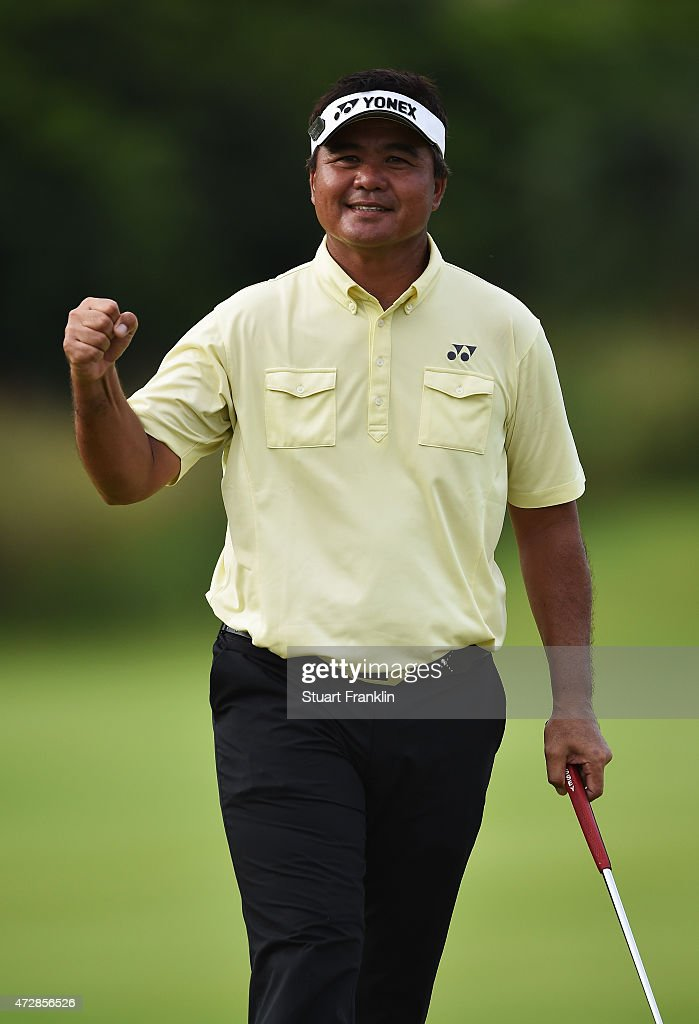 <a gi-track='captionPersonalityLinkClicked' href=/galleries/search?phrase=Mardan+Mamat&family=editorial&specificpeople=220766 ng-click='$event.stopPropagation()'>Mardan Mamat</a> of Singapore reacts during the final round of the AfrAsia Bank Mauritius Open at Heritage Golf Club on May 10, 2015 in Bel Ombre, Mauritius.