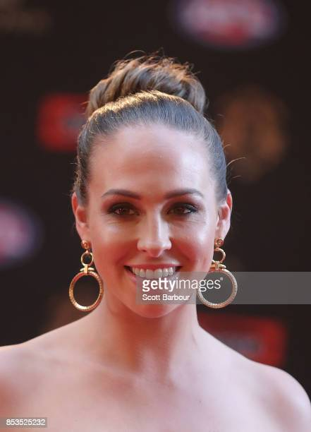 Mardi Dangerfield wife of Patrick Dangerfield of the Cats ahead of the 2017 Brownlow Medal at Crown Entertainment Complex on September 25 2017 in...