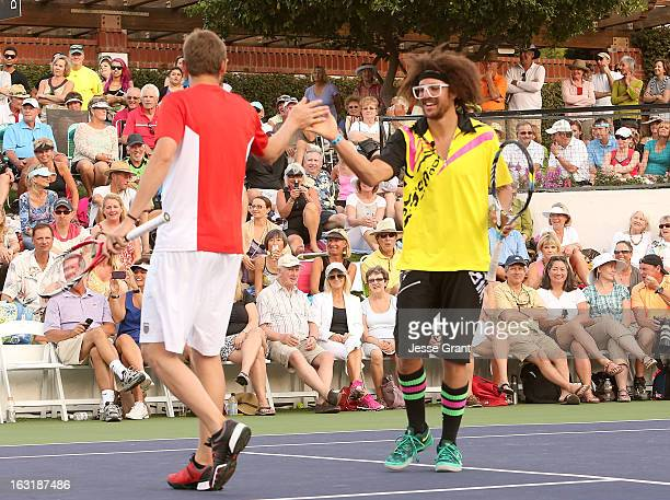 Mardy Fish and Redfoo attend The 9th Annual KSwiss Desert Smash Charity Tennis Event Benefiting Variety The Children's Charity of The Desert at La...