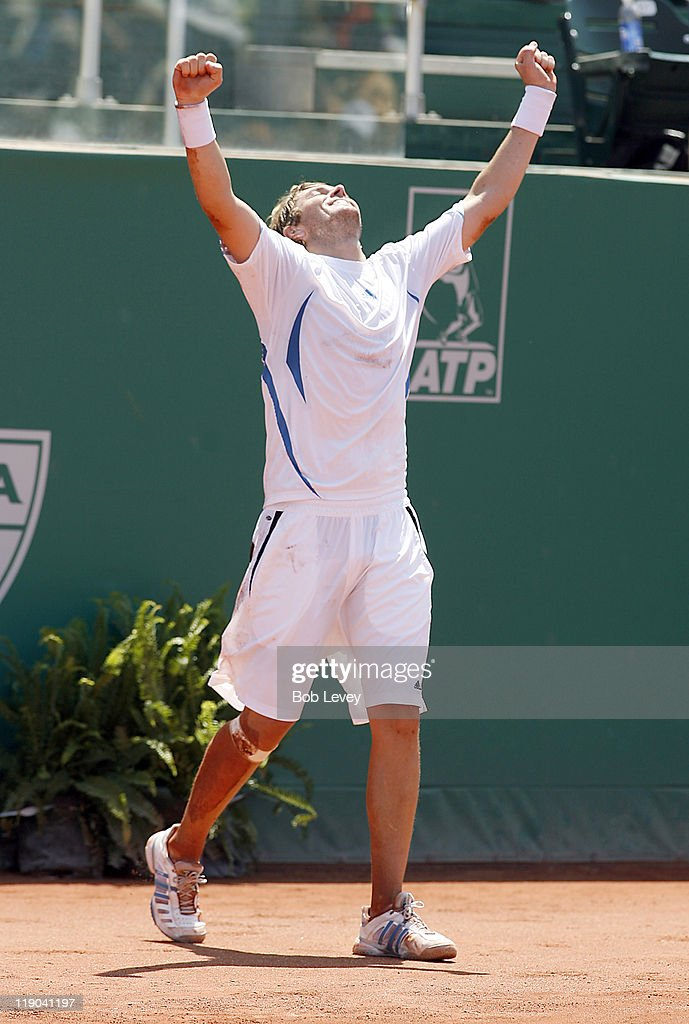 <a gi-track='captionPersonalityLinkClicked' href=/galleries/search?phrase=Mardy+Fish&family=editorial&specificpeople=206218 ng-click='$event.stopPropagation()'>Mardy Fish</a> (USA) defeated <a gi-track='captionPersonalityLinkClicked' href=/galleries/search?phrase=Jurgen+Melzer&family=editorial&specificpeople=200702 ng-click='$event.stopPropagation()'>Jurgen Melzer</a> (AUT) 3-6, 6-4 6-3 to win the U.S. Mens Clay Court Championships on April 16, 2006 at Westside Tennis Center in Houston, Texas.
