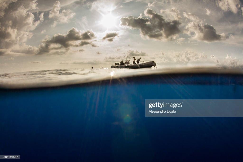 mare cielo : Foto stock