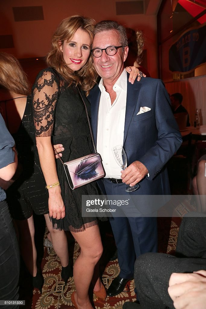 Mareile Hoeppner and Jan Hofer during the Bild 'Place to B' Party at Borchardt during the 66th Berlinale International Film Festival Berlin on February 13, 2016 in Berlin, Germany.