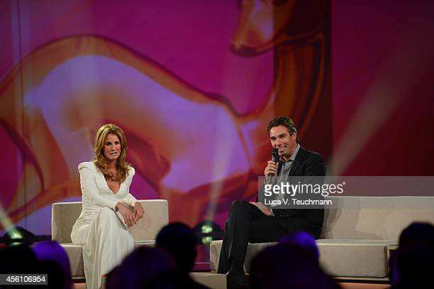 Mareile Hoeppner and Michael Stich attend the Tribute To Bambi 2014 Show at Station on September 25 2014 in Berlin Germany