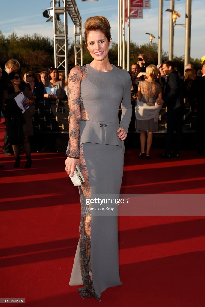 Mareile Hoeppner attends the Deutscher Fernsehpreis 2013 - Red Carpet Arrivals at Coloneum on October 02, 2013 in Cologne, Germany.