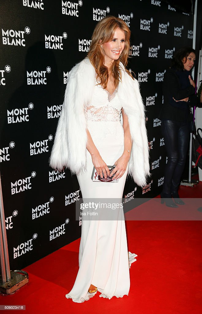 Mareile Hoeppner attends the Montblanc House Opening on February 09, 2016 in Hamburg, Germany.