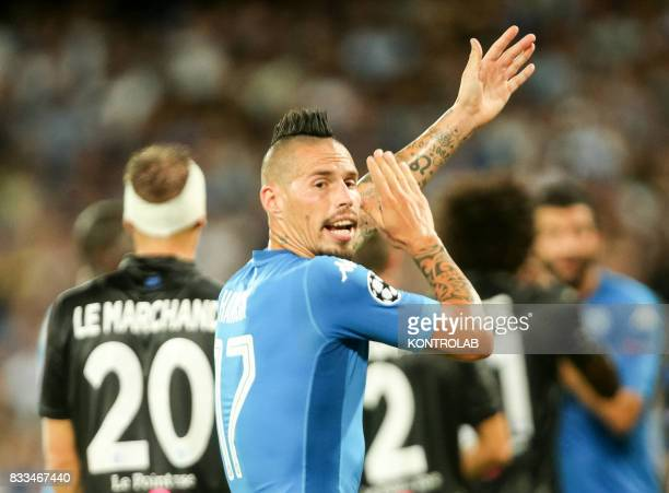 Marek Hamík midfielder Napoli during the match between SSC Napoli and OGC Nice for qualifying for the playoffs of the UEFA Champions League Napoli...