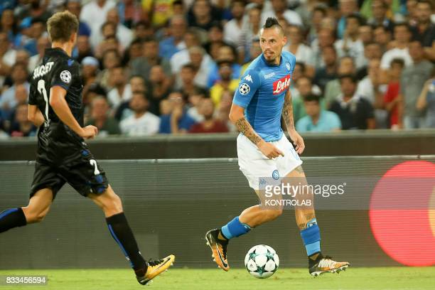 Marek Hamík Napoli midfielder during the match between SSC Napoli and OGC Nice for UEFA Champions League playoff qualification Napoli wins 2 to 0...