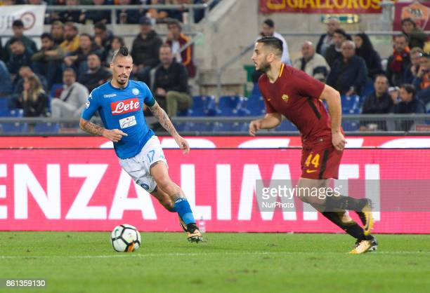 Marek Hamsik during the Italian Serie A football match between AS Roma and SSC Napoli at the Olympic Stadium in Rome on october 14 2017
