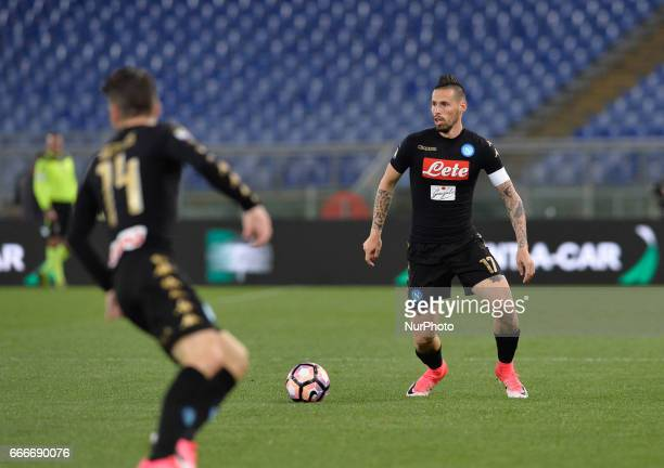 Marek Hamsik during the Italian Serie A football match between SS Lazio and AC Napoli at the Olympic Stadium in Rome on april 09 2017