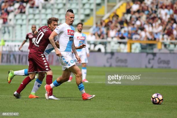 Marek Hamsik in action during the Serie A football match between Torino FC and SSC Napoli at Olympic stadium Grande Torino on may 14 2017 in Turin...