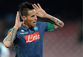 Marek Hamsik of Napoli celebrates after scoring their second goal during the UEFA Europa League football match between SSC Napoli and SK Slovan...