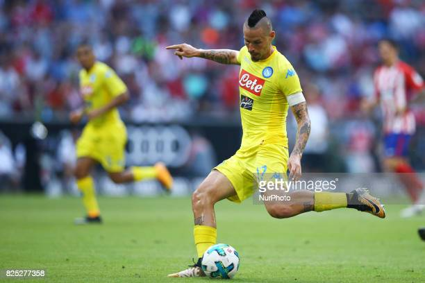 Marek Hamsik of Napoli durign the first Audi Cup football match between Atletico Madrid and SSC Napoli in the stadium in Munich southern Germany on...