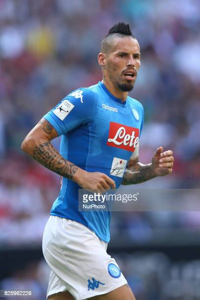Marek Hamsik of Napoli during the Audi Cup 2017 match between SSC Napoli and FC Bayern Muenchen at Allianz Arena on August 2 2017 in Munich Germany