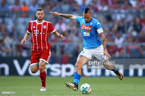 Marek Hamsik of Napoli during the Audi Cup 2017 match between SSC Napoli v FC Bayern Muenchen at Allianz Arena on August 2 2017 in Munich Germany
