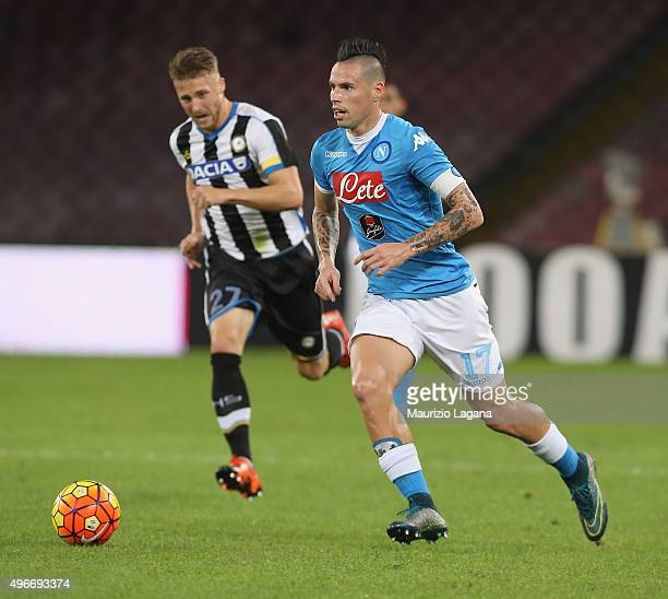 Marek Hamsik of Napoli during the Serie A match between SSC Napoli and Udinese Calcio at Stadio San Paolo on November 8 2015 in Naples Italy