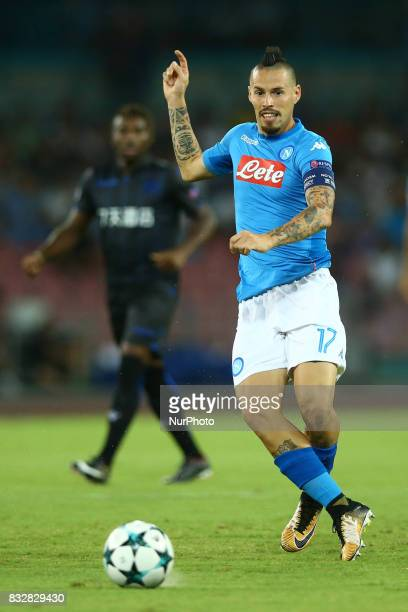 Marek Hamsik of Napoli during the UEFA Champions League Play Off first leg football match SSC Napoli vs OCG Nice on August 16 2017 at the San Paolo...