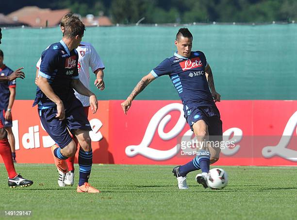 Marek Hamsik of Napoli in action during the preseason friendly match between SSC Napoli and US Grosseto on July 23 2012 in Dimaro near Trento Italy