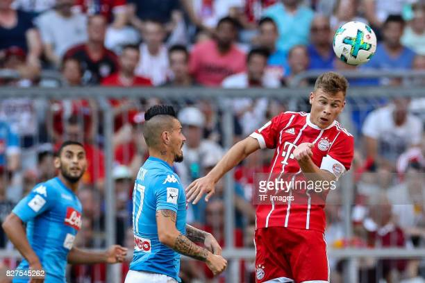 Marek Hamsik of Neapel and Joshua Kimmich of Bayern Muenchen battle for the ball during the Audi Cup 2017 match between SSC Napoli and FC Bayern...