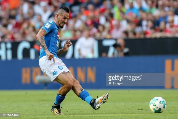 Marek Hamsik of Neapel controls the ball during the Audi Cup 2017 match between SSC Napoli and FC Bayern Muenchen at Allianz Arena on August 2 2017...