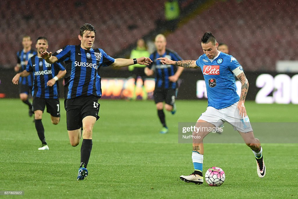 Marek Hamsik of SSC Napoli during the italian Serie A football match between SSC Napoli and Atalanta BC at San Paolo Stadium on May 2, 2016 in Naples,Italy.