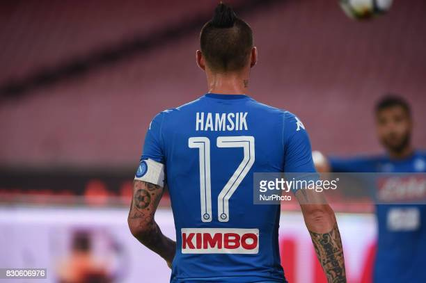 Marek Hamsik of SSC Napoli during the Preseason Frendly match between SSC Napoli and RCD Espanyol at Stadio San Paolo Naples Italy on 10 August 2017