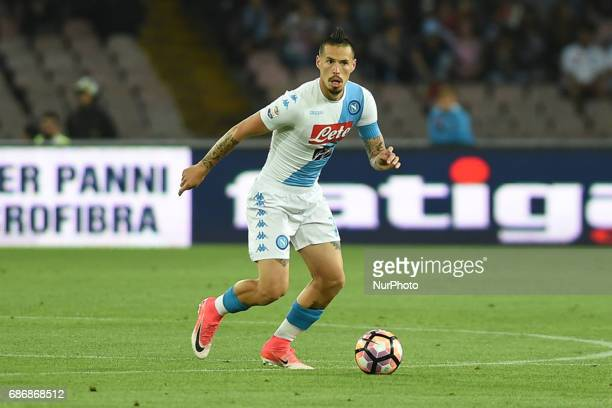 Marek Hamsik of SSC Napoli during the Serie A TIM match between SSC Napoli and ACF Fiorentina at Stadio San Paolo Naples Italy on 20 May 2017