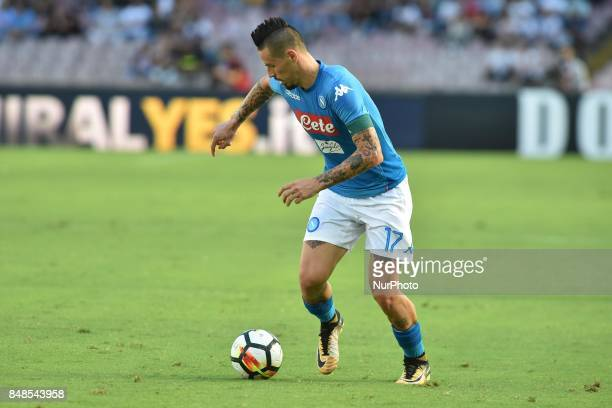 Marek Hamsik of SSC Napoli during the Serie A TIM match between SSC Napoli and Benevento Calcio at Stadio San Paolo Naples Italy on 17 September 2017