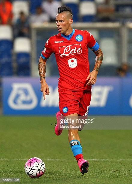 Marek Hamsik of SSC Napoli in action during the Serie A match between US Sassuolo Calcio and SSC Napoli at Mapei Stadium Città del Tricolore on...