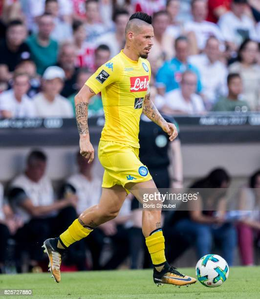 Marek Hamsik of SSC Napoli runs with the ball during the Audi Cup 2017 match between Club Atletico de Madrid and SSC Napoli at Allianz Arena on...