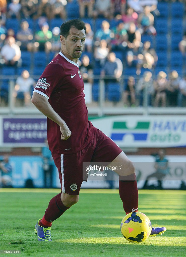 <a gi-track='captionPersonalityLinkClicked' href=/galleries/search?phrase=Marek+Matejovsky&family=editorial&specificpeople=3933822 ng-click='$event.stopPropagation()'>Marek Matejovsky</a> of AC Sparta Prague in action during the Gambrinus Liga match between FK Mlada Boleslav and AC Sparta Prague at the Mestsky Stadion on May 25 , 2014 in Mlada Boleslav,Czech Republic.