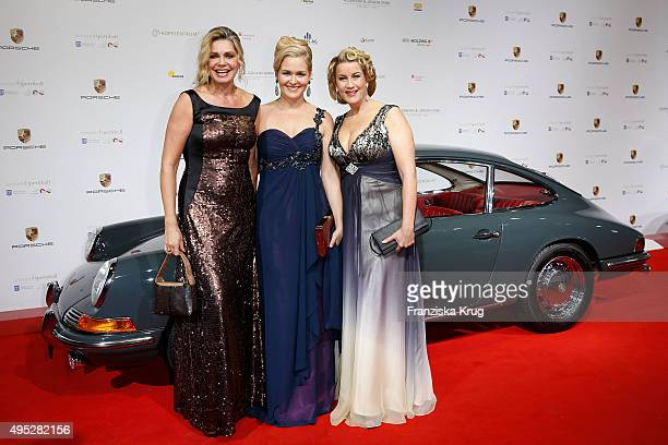 Maren Gilzer Alexa Maria Surholt and a guest attend the Leipzig Opera Ball 2015 on October 31 2015 in Leipzig Germany