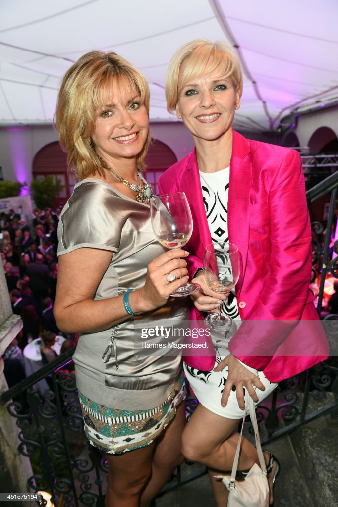 Maren Gilzer and Andrea Kathrin Loewig attend the Bavaria Reception at the Kuenstlerhaus as part of the Munich Film Festival 2014 on July 1, 2014 in Munich, Germany.