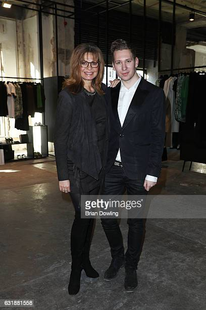 Maren Gilzer and Clemens Trischler attend the holyGhost show during the MercedesBenz Fashion Week Berlin A/W 2017 at Kaufhaus Jandorf on January 17...