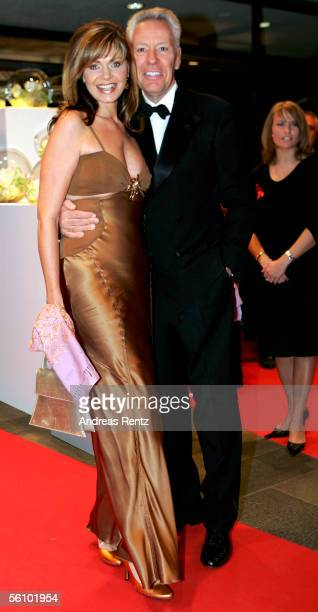 Maren Gilzer and her friend Egon F Freiheit arrive at the AIDS Benefit Opera Gala on November 5 2005 in Berlin Germany