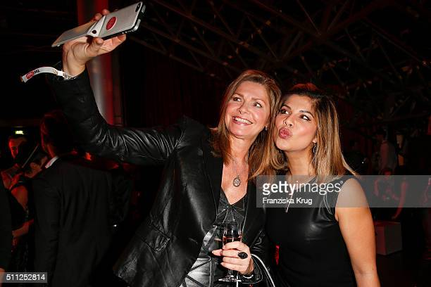 Maren Gilzer and Indira Weis attend the 99FireFilmAward 2016 at Admiralspalast on February 18 2016 in Berlin Germany