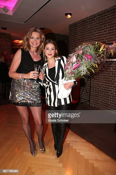 Maren Gilzer Arzu Bazman during the birthday celebration of Maren Gilzer's 55th birthday on February 4 2015 in Berlin Germany Welcome Home Show at...