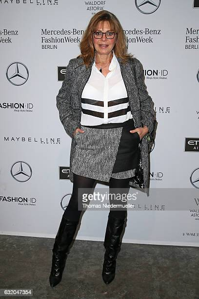 Maren Gilzer attends the Ewa Herzog show during the MercedesBenz Fashion Week Berlin A/W 2017 at Kaufhaus Jandorf on January 19 2017 in Berlin Germany