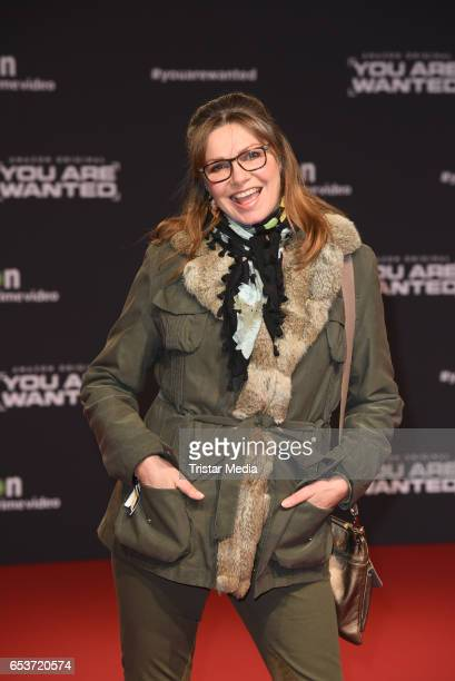 Maren Gilzer attends the premiere of the Amazon series 'You are wanted' at CineStar on March 15 2017 in Berlin Germany