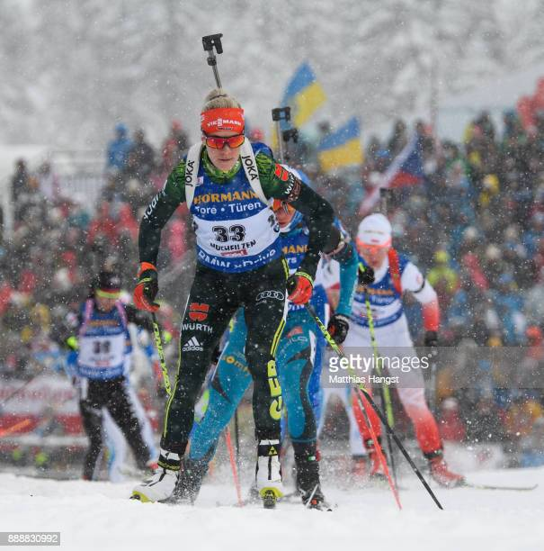 Maren Hammerschmidt of Germany competes in the 10 km Women's Pursuit during the BMW IBU World Cup Biathlon on December 0 2017 in Hochfilzen Austria