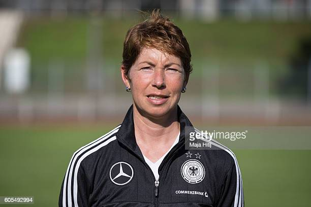 Maren Meinert poses during the Germany Women's U20 team presentation on September 13 2016 in Duesseldorf Germany