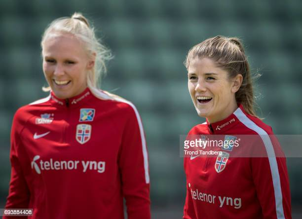 Maren Mjelde during Norwegian Men Training Session at Ullevaal Stadion on June 6 2017 in Oslo Norway
