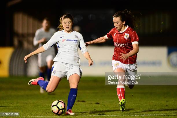 Maren Mjelde of Chelsea during a Continental Tyres Cup match between Bristol City Women and Chelsea Ladies at on November 4 2017 in Bristol England