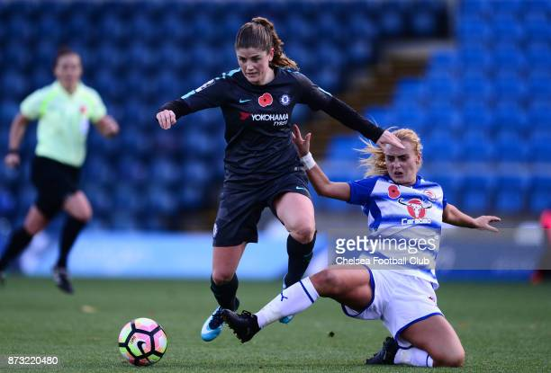 Maren Mjelde of Chelsea during the FA WSL match between Reading Women and Chelsea Ladies at Adams Park on October 12 2017 in Wycombe England