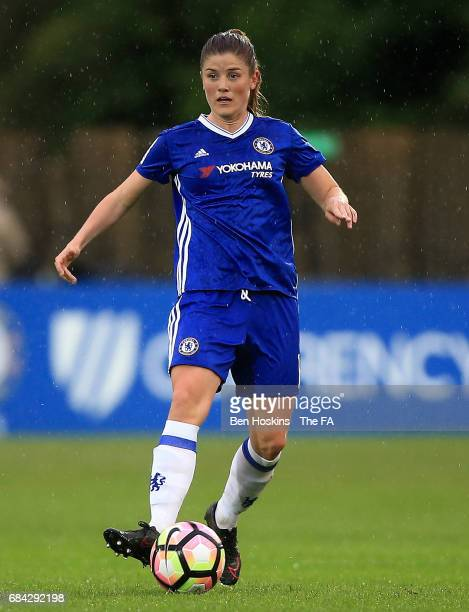 Maren Mjelde of Chelsea in action during the WSL 1 match between Chelsea Ladies and Arsenal Ladies on May 17 2017 in Staines England