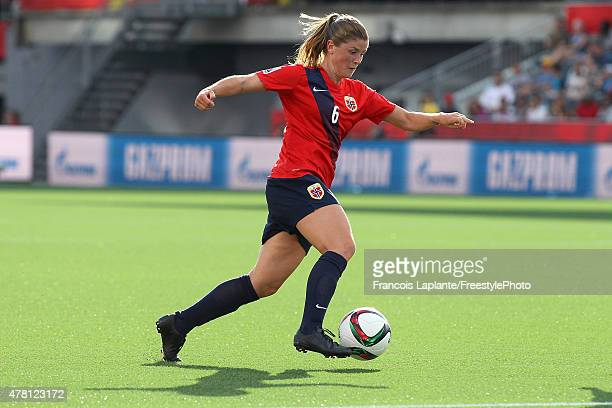 Maren Mjelde of Norway controls the ball against England during the FIFA Women's World Cup Canada 2015 round of 16 match between Norway and England...