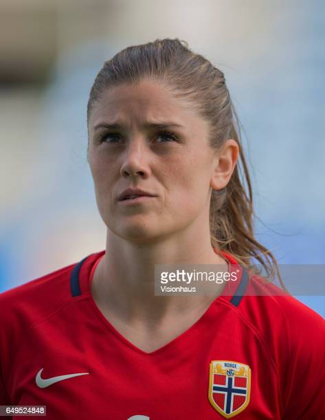 Maren Mjelde of Norway during the Group B 2017 Algarve Cup match between Norway and Japan at the Estadio Algarve on March 06 2017 in Faro Portugal