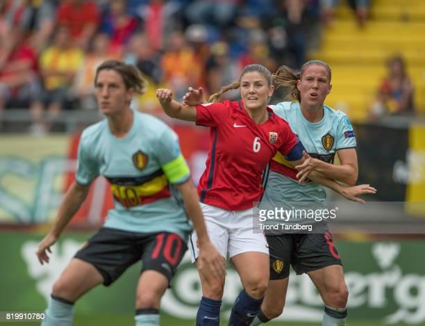 Maren Mjelde of Norway during the UEFA Womens Euro 2017 between Norway v Belgium at Rat Verlegh Stadion on July 20 2017 in Breda Netherlands