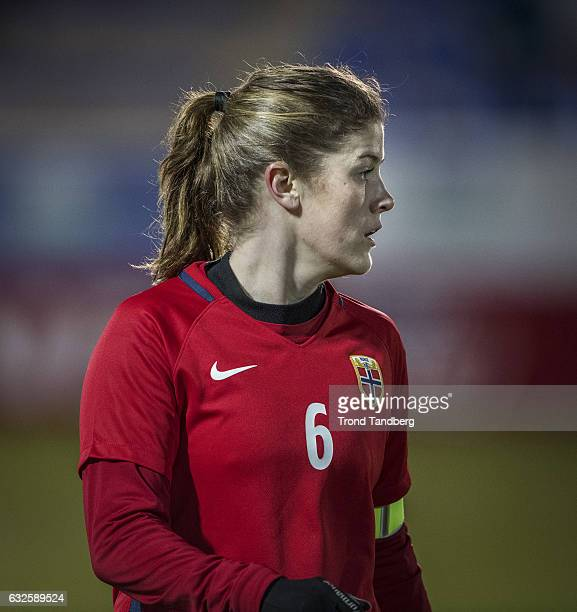 Maren Mjelde of Norway during the Women International Friendly Match between Norway and England at La Manga Club on January 22 2017 in La Manga Spain