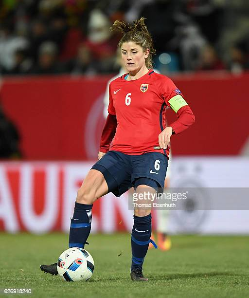 Maren Mjelde of Norway during the women's international friendly match between Germany and Norway at community4you ARENA on November 29 2016 in...